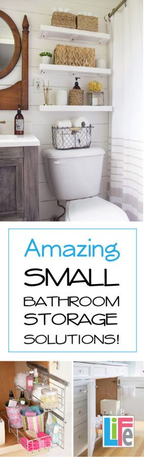 14 Amazing Tips for Organizing your small bathroom!  Save space and have a cleaner bathroom by learning these few tips!