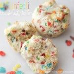 Funfetti Breakfast Muffins made with a secret breakfast ingredient -- click here for recipe!