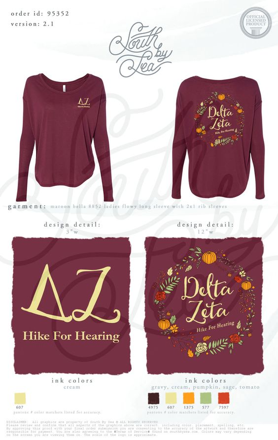 Delta Zeta | DZ | Hike For Hearing | Fall Philanthropy Shirt | Philanthropy Tee Shirt Design | South by Sea | Greek Tee Shirts | Greek Tank Tops | Custom Apparel Design | Custom Greek Apparel | Sorority Tee Shirts | Sorority Tanks | Sorority Shirt Designs