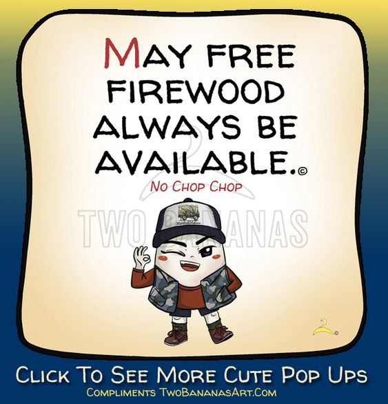 Free firewood makes happy campers! A campfire is the center around which camp life revolves. Whimsical quotes, camping limericks & words wisdom by obscure Chinese monks. Use for your website, blog or share on social media.  #camping⛺ #happycampers #newslettercontent #camperlife #camperhumor #campsigns  #freecartoon #camperclub #camperorganization #makelaughquotes #campfirequotes #cutecampfirequotes #campfirecartooncampfire #firewoodtips #firewoodquotestruths #firewood #firewoodsigns