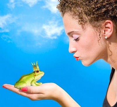 Woman Kissing A Frog Prince  / Royalty Free Images at Inmagine