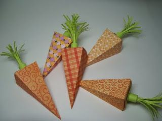 Carro Patch Money Holder How-To: Paper Craft, Papercraft, Carrot Boxes, Bags Boxes Baskets Paper