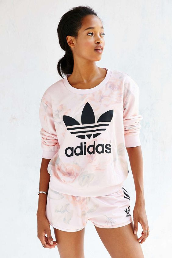 Pastel originals and adidas on pinterest for Adidas floral shirt urban outfitters