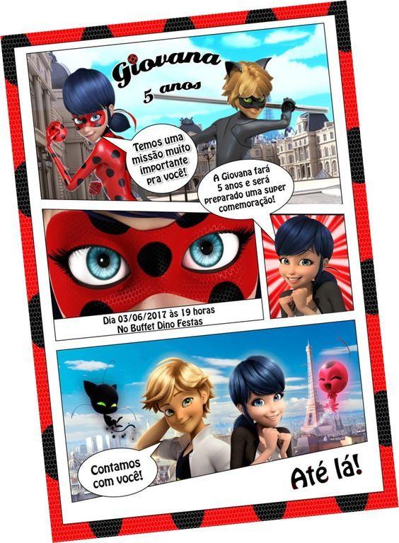Invitaciones Ladybug Fiesta Cumpleaños Cumpleaños Y