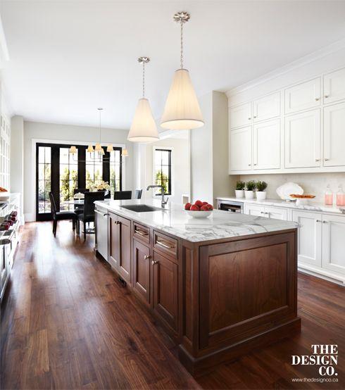Custom Kitchen, White Kitchen, White Cabinetry, Marble