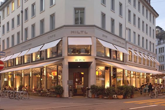 Hiltl Haus, localizado em Zurique, na Suíça, o restaurante funciona desde 1898.