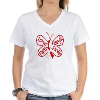 Aplastic Anemia Love Faith Strength and Hope Butterfly Ribbon shirts by gifts4awareness.com #aplasticanemia #aplasticanemiaawareness #aplasticanemiashirts