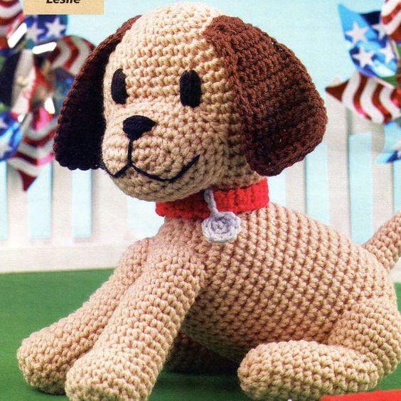 Domino The Dog Amigurumi Crochet Pattern : Amigurumi, Free dogs and Free amigurumi patterns on Pinterest