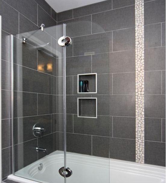 12 x 24 tile on bathtub shower surround | House ideas | Pinterest | Bathtub  shower, Bathtubs and Bath