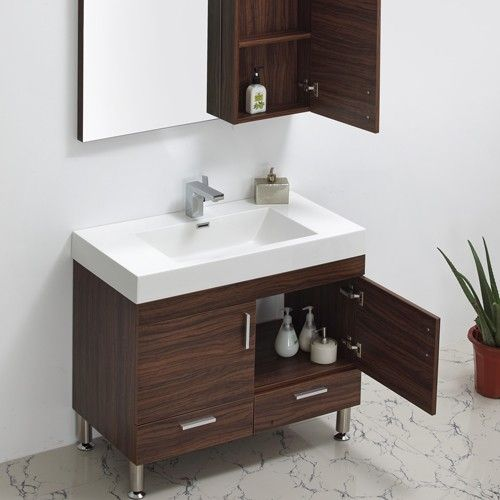 Modern bathroom vanities vanity set and modern bathrooms on pinterest - Kona modern bathroom vanity set ...