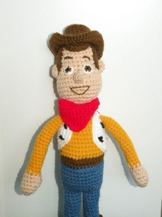 Toys Story Amigurumi : PDF - Woody - 15 inches amigurumi doll crochet pattern ...