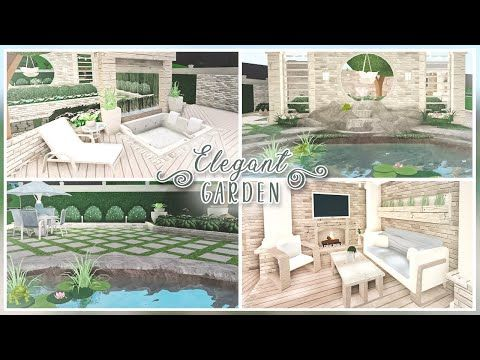 Bloxburg Backyard Ideas Pt 2 Elegant Garden Youtube House Plans With Pictures House Decorating Ideas Apartments Unique House Design