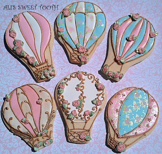 Ali's Sweet Tooth Shabby Chic Hot Air Balloons | Cookie Connection