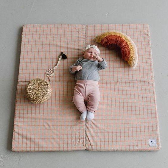 Organic Coral Grid Play Mat Shop Non Toxic Padded Foam Play Mats For Babies And Kids Play Mat Playmat Kids Playmat