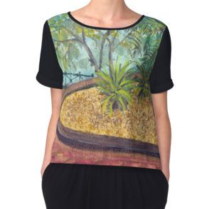 'Oasis At Circular Quay, Sydney, NSW - Women's Chiffon Top available at http://www.redbubble.com/people/chrisjoy/works/4995447-oasis-at-circular-quay-sydney-nsw