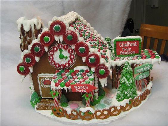 Gingerbread Train Station