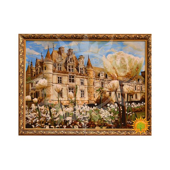 Красивый Замок на горе из янтаря ⋆ Amber stone