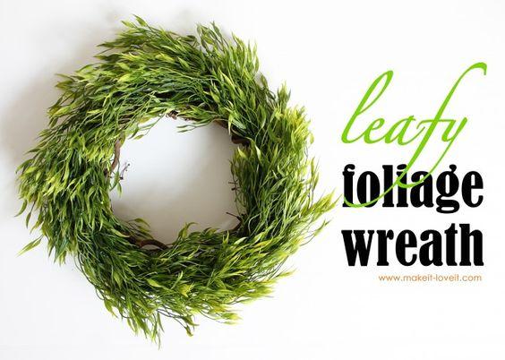 DIY Leafy Foliage wreath