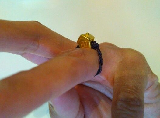 My simple ring....i made by my own style...