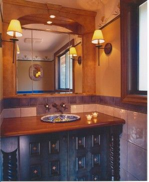 hallway bathroom sink countertop bathroom design floor spanish style design ideas pictures