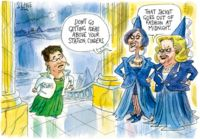 Cartoonists respond to the shamefully bitchy attack on Green MP Metiria Turei by conservative MPs Judith Collins and Anne Tolley