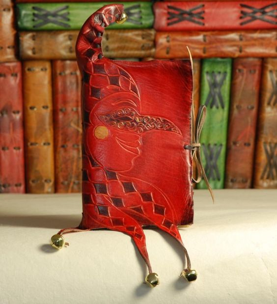 Jester Leather Journal by gildbookbinders