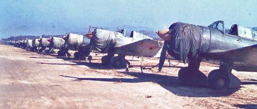 Mitsubishi Ki-51 planes at the Seoul airport, 1945