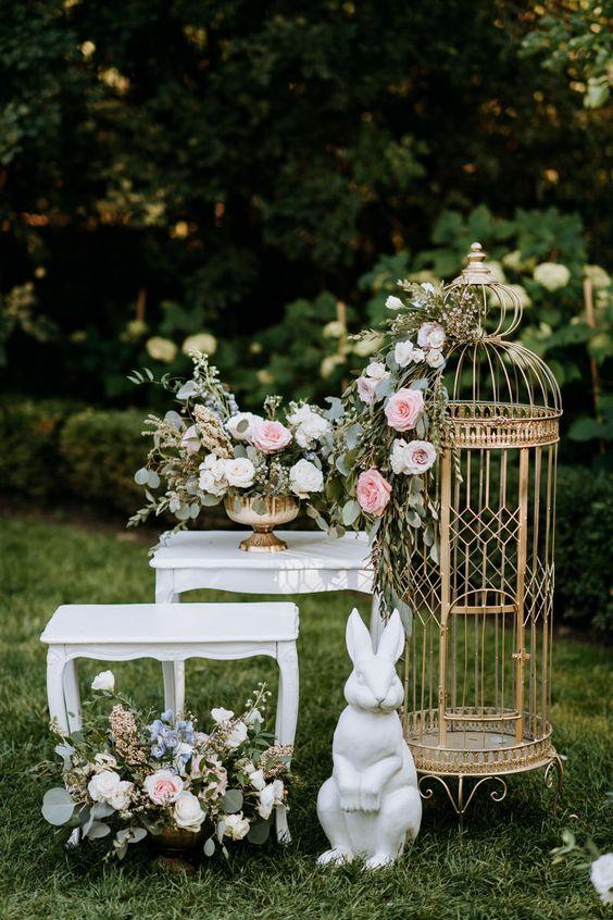 Outdoor Wedding Details with an Alice in Wonderland Flair