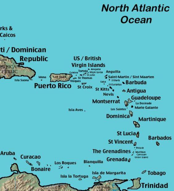 Saint Martin St Kitts and St Thomas Dream Cruise – Map of Caribbean Islands St Thomas