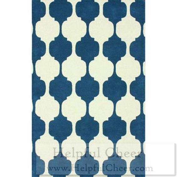 nuLOOM Handmade Modern Chess Trellis Blue Rug 7 x27 6 x 9 x27 6 - at - 015