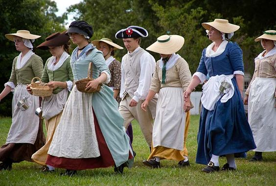 """camp followers for """"under the redcoats"""" reenactment"""