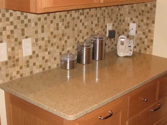 Cabinets Oak Cabinets And Quartz Countertops On Pinterest