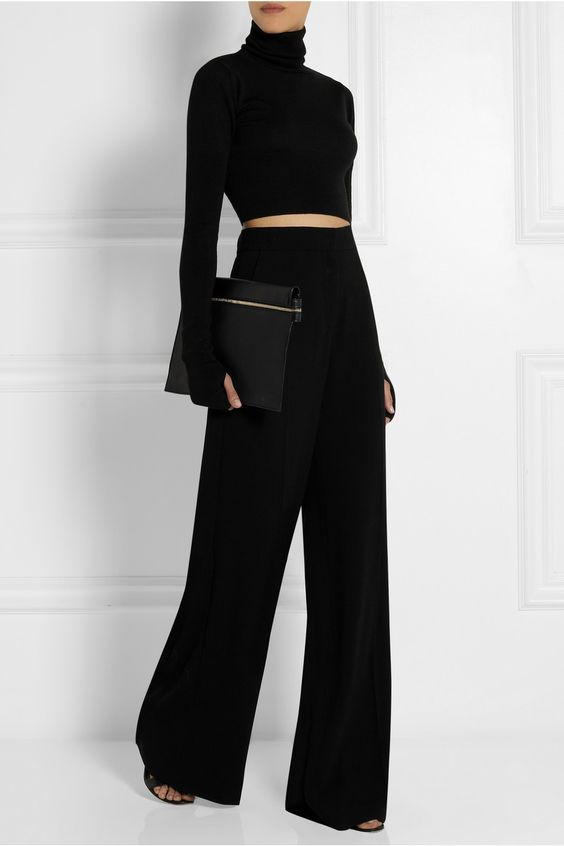 MM6 Maison Martin Margiela Cropped wool turtleneck sweater | NET-A-PORTER