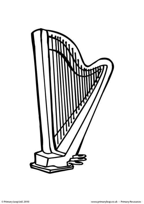 Primaryleap Co Uk Harp Colouring Page Worksheet