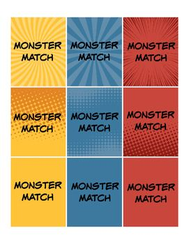 Print two copies for a fun monster themed pre-primer sight word matching game…