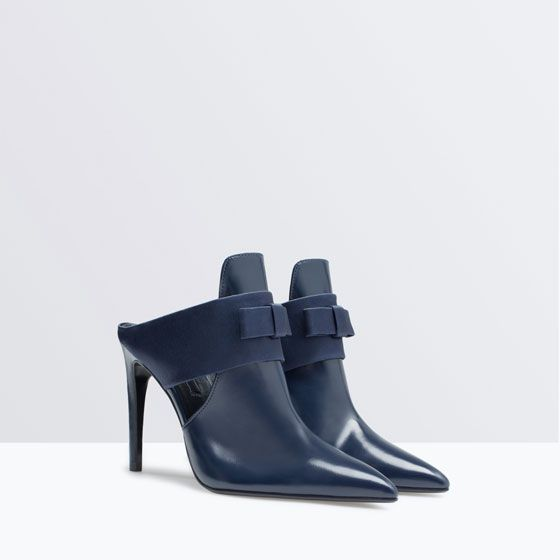 ZARA - NEW THIS WEEK - HIGH-HEELED MULES WITH BOW