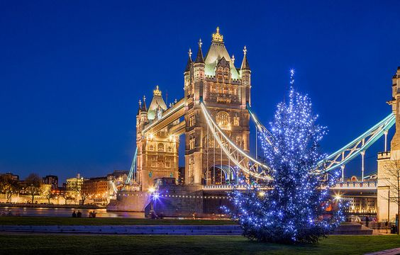 London - Tower Bridge Christmas by John & Tina Reid, via Flickr