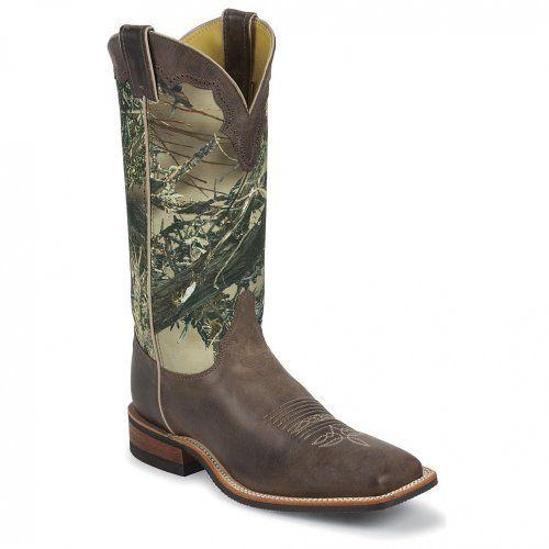 Justin Men's Bent Rail Camo Cowboy Boot Square Toe - http://shoes.goshopinterest.com/mens/boots-mens/dress/justin-mens-bent-rail-camo-cowboy-boot-square-toe/