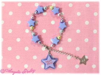 Lolita Desu - Milky Dream Star Bracelet in Lavender from Angelic Pretty, $31.50 (http://www.lolitadesu.com/milky-dream-star-bracelet-in-lavender-from-angelic-pretty/)