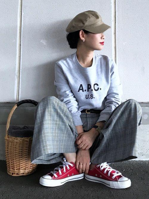 Instagram→yuki_takahashi0706 JEANASIS タックムジガラワイドパン