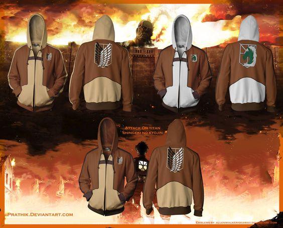 Attack on Titan / Shingeki no Kyojin Hoodies! by prathik.deviantart.com on @deviantART