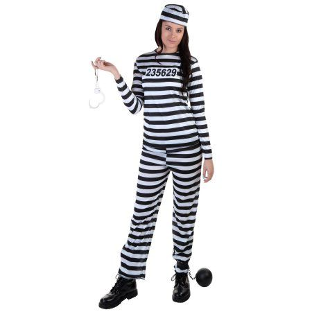 Plus Size Womens Prisoner Costume: