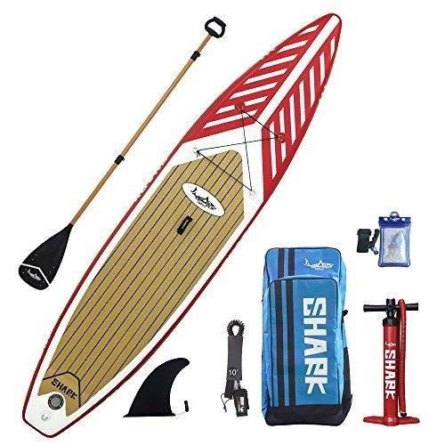 Sharksups 12 6 Touring Inflatable Stand Up Paddle Boards With Standard Accessories Include 3 Piece Adjustab Standup Paddle Red Paddle Inflatable Paddle Board