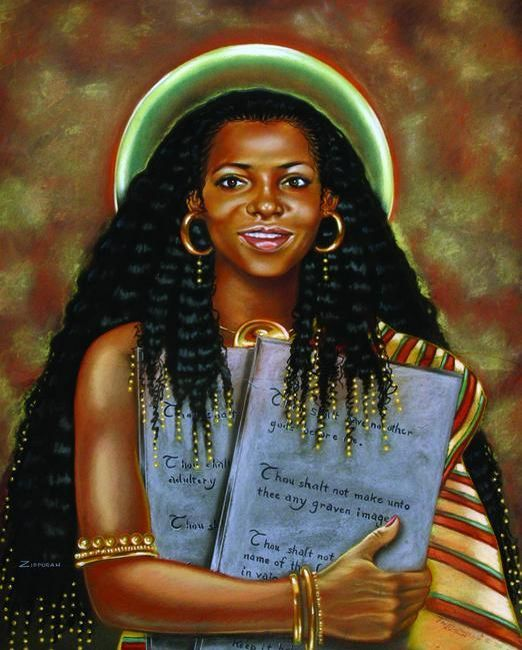 """ZIPPORRAH      Wife of the Writer of the First Five Books of the Bible    And Miriam and Aaron spake against Moses because of the Ethiopian woman he had married: for he had married an Ethiopian woman."""" (Num. 12:1) Members of both Christian and Jewish faiths are usually surprised to learn that the man God chose to write the first five books of the Bible was married to a black woman and suffered persecution for it. Moses' wife was of Ethiopian (Cushitic) descent and her name was Zipporah."""