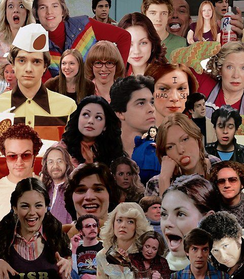 That 70s Show Collage Poster By Electricgal That 70s Show That 70s Show Aesthetic 70 Show
