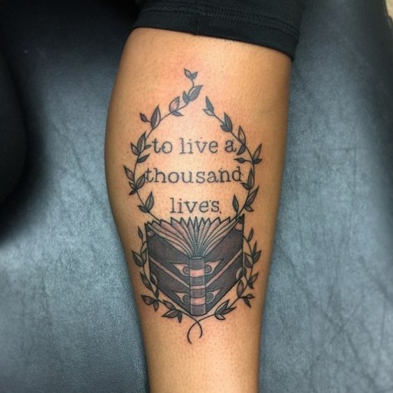 30 Scholarly Tattoos For Booklovers… #19 Oozes Intelligence. - http://www.lifebuzz.com/bookworm-tats/