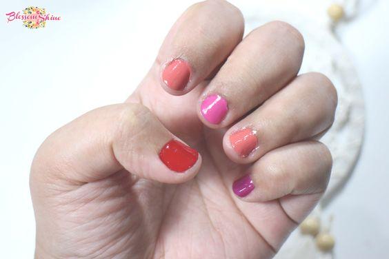 Contoh warna Peel Off Nail Polish Elsheskin