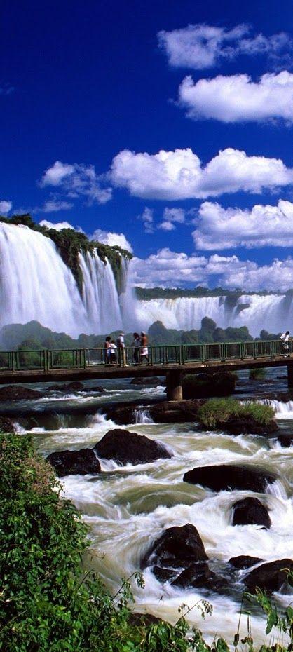 Mirante nas cataratas Iguaçu, Paraná, Brasil