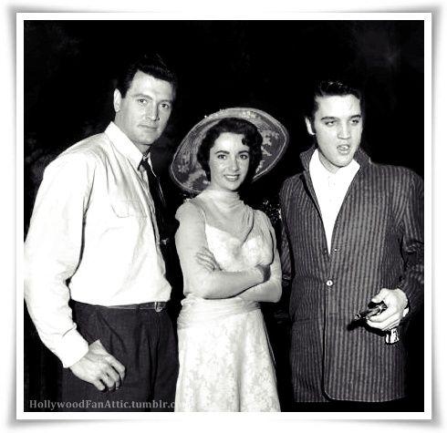 Rock Hudson, Elizabeth Taylor & Elvis