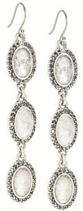 Lucky Brand Lucky Brand Silver Quartz Marcasite Linear Dangle Earrings! NWT